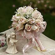 16センチメートル花を保持DIA結婚式のブーケ結婚式の花嫁、シルクcolthシミュレーションローズバッド
