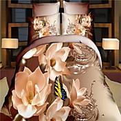 4pcs Bedding Set Cotton 3D Reactive Print...