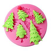 ケーキの装飾の金型クリスマスツリーのシリコーン型