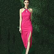 Mujer Clásico Corte Bodycon Vestido - Estilo moderno, Un Color Midi