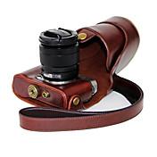 dengpin® PU de la piel aceite de cuero bolsa caso de la cubierta desmontable para la cámara Fujifilm X-a2-a1 x x-m1 (colores surtidos)
