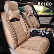 cuero 8 PC fijadas todas las estaciones de asiento de coche en general cubre asientos protección accesorios del coche ajuste universal