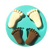 pé pegada fondant bebê silicone moldes do bolo de chocolate do molde para a ferramenta de decoração do bolo açúcar cozinha artigo de forno