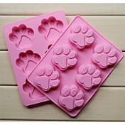 ファッションシリコーン6穴猫の爪の形のケーキ耐熱皿型石鹸チョコレートキッチン調理ツール食品のデザート作り