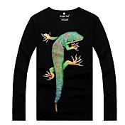 Camisetas ( Algodón Orgánico )- Casual Redondo Manga Larga