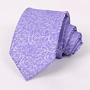 男性のパーティー/夕方結婚式の正式な紫色のバラのポリエステルネクタイ