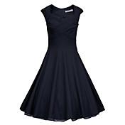 WOMEN - ビンテージ/セクシー/パーティー - ドレス ( コットンブレンド 半袖