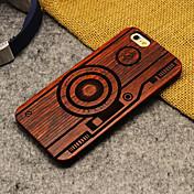 Funda Para Apple iPhone 6 iPhone 6 Plus Diseños Funda Trasera Caricatura Dura De madera para iPhone 6s Plus iPhone 6s iPhone 6 Plus