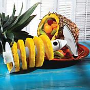 ステンレススチールフルーツパイナップルピーラースライサー1個、キッチンツール