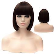 Mujer Pelucas sintéticas Corte Recto Negro Pelucas para Disfraz