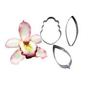 cuatro c cortador de flor de la orquídea cymbidium pétalo, herramientas de decoración de tortas, herramientas para hornear la pasta de