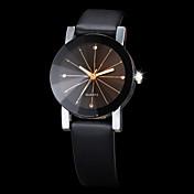 Hombre Mujer Pareja Reloj de Vestir Reloj de Moda Reloj de Pulsera Cuarzo Diamantes Sintéticos La imitación de diamante PU Banda Negro