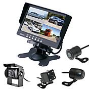 renepai® 7 pulgadas 4 en 1 monitor de HD + bus 170 ° hd cámara de visión trasera coche de la cámara a prueba de agua la longitud del cable