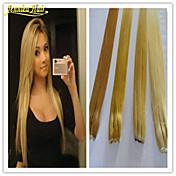 1pc extensión del pelo humano del pelo brasileño de colores múltiples disponibles flip humano en extensiones de cabello