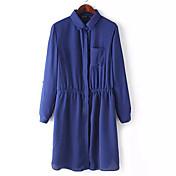 Mujer Moderno Corte Ancho Vestido - Estilo moderno, Color sólido