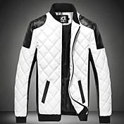 メンズ 日常着 ストリート 秋 冬 ジャケット,アールデコ/レトロ スタンド マルチカラー レギュラー 詳細情報なし 長袖