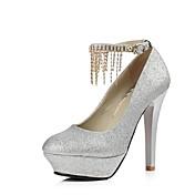 レディース 靴 レザーレット 春 夏 秋 スティレットヒール プラットフォーム ベックル 用途 結婚式 パーティー シルバー レッド ゴールデン