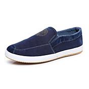Zapatos de Hombre Mocasines / Sin Cordones Oficina y Trabajo / Casual / Deporte Tela Azul / Gris