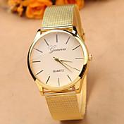 Mujer Reloj de Vestir Reloj de Moda Cuarzo Reloj Casual Aleación Banda Encanto Dorado