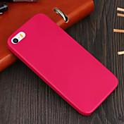 Funda Para Funda iPhone 5 Other Cubierta Trasera Color sólido Dura Cuero Sintético para iPhone SE/5s iPhone 5
