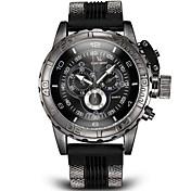 V6 Hombre Reloj Militar / Reloj de Pulsera Con regla Silicona Banda Encanto Negro / Blanco / Azul / Dos año / Mitsubishi LR626
