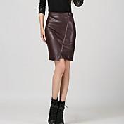 Mujer Clásico Corte Bodycon Leggings Faldas Un Color Color sólido