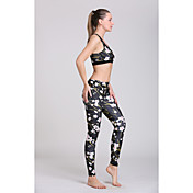 Mujer Sujeción Media Sujetador deportivo con pantalones de running Materiales Ligeros Reductor del Sudor Sujetadores de Deporte