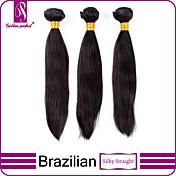 Tejidos Humanos Cabello Cabello Brasileño Recto 3 Piezas los tejidos de pelo