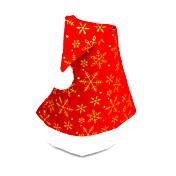 pleuche gorra plana sombrero de Papá Noel, color al azar