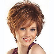 Synthetic Wig Wavy Synthetic Hair Brown W...