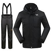 Hombre Chaqueta y pantalones de Esquí Impermeable Mantiene abrigado Resistente al Viento Esquí Deportes de Nieve 100% Poliéster