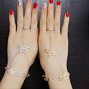 Feminino Anéis Meio Dedo Moda Jóias de Luxo Imitações de Diamante Liga Formato Animal Borboleta Jóias Para Casamento Festa Diário Casual