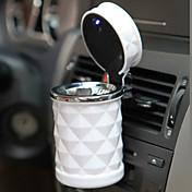 accesorios de automóviles de lujo llevado portable del cenicero del coche de alta calidad cilindro cigarrillo universales estilo coche del