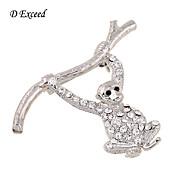 女性 銀メッキ ガラス 模造ダイヤモンド 合金 ファッション シルバー ジュエリー 結婚式 パーティー 日常 カジュアル