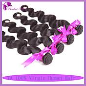 人間の髪編む ペルービアンヘア ウェーブ 6ヶ月 3個 ヘア織り