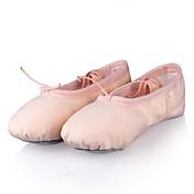 Niños Ballet Tela Plano Entrenamiento Actuación Tacón Plano Rosa Beige No Personalizables