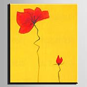 Pintada a mano Floral/BotánicoModern Un Panel Lienzos Pintura al óleo pintada a colgar For Decoración hogareña