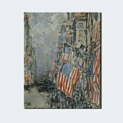 手描きの 抽象画 / 名画 / ファンタジーModern / クラシック / トラディショナル / 欧風 1枚 キャンバス ハング塗装油絵 For ホームデコレーション