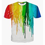 Men's Sports Cotton T-shirt - Rainbow, Print