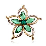 Mujer Broche Acrílico Brillante La imitación de diamante Moda Verde Joyas Boda Fiesta Ocasión especial Cumpleaños Diario