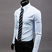 Men's Work Business Plus Size Slim Shirt ...