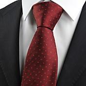 Corbata(Rojo,Poliéster)-A Rayas