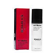 赤;黒の目に見えない気孔プライマー顔マティファイング化粧ベース30ミリリットル