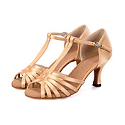 Women's Latin Shoes Elastic Fabric Sandal...