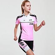 Mysenlan Maillot de Ciclismo con Shorts Mujer Manga Corta Bicicleta Sets de Prendas Secado rápido Resistente a los UV Permeabilidad a la