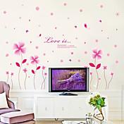 ロマンティック ファッション フローラル柄 ウォールステッカー プレーン・ウォールステッカー 飾りウォールステッカー 材料 取り外し可 ホームデコレーション ウォールステッカー・壁用シール