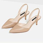 女性用 靴 マイクロファイバー ローヒール ベックル のために ドレスシューズ ホワイト ヌード