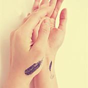 etiqueta do tatuagem tatuagem pena totem transferência temporária à prova d'água de água tatuagem falsa