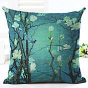 novidade padrão floral estofamento de linho sofá decoração de casa cobrir de almofada