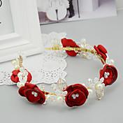 perlas de la aleación de satén de la resina de la perla casco estilo femenino clásico
